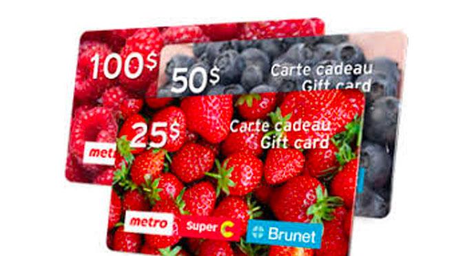 Concours Carte-Cadeau Metro