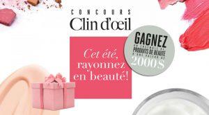 concours clin d'oeil 2019 produit de beauté