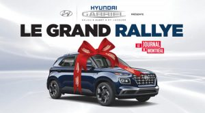 Concours grand rallye Journal de Montréal Hyundai venue 2020