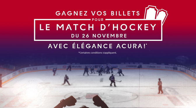 Concours Billet pour voir le Canadien de Montréal!