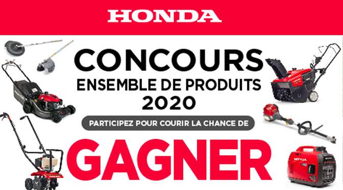 Concours enseble produits honda moteur 2020