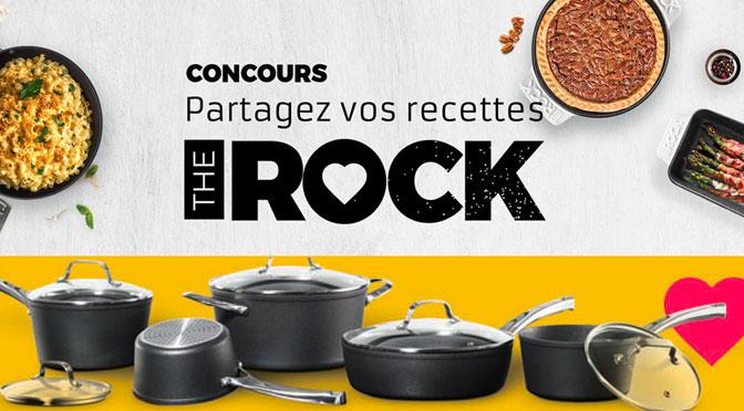 Concours partagez vos recettes The Rock