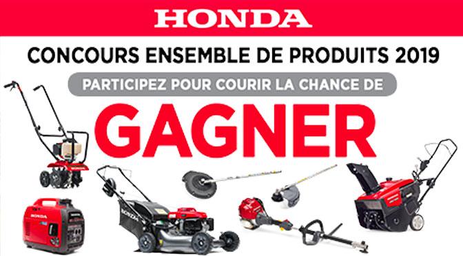 Concours produits Honda 2019