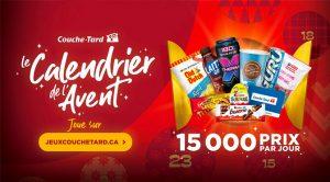 Concours Calendrier de l'avent Couche Tard 2020