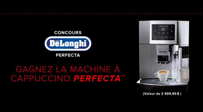 Concours Machine à Café Delonghi Perfecta