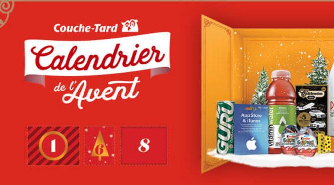 Concours Calendrier de l'avent 2019 Couche-Tard