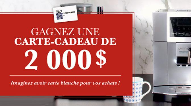 Concours Carte-cadeau Linen Chest