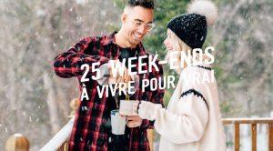 Concours 25 week-end de rêve en chaudière Appalaches