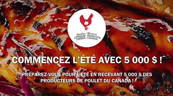 Producteur de poulet canadien concours 5000$