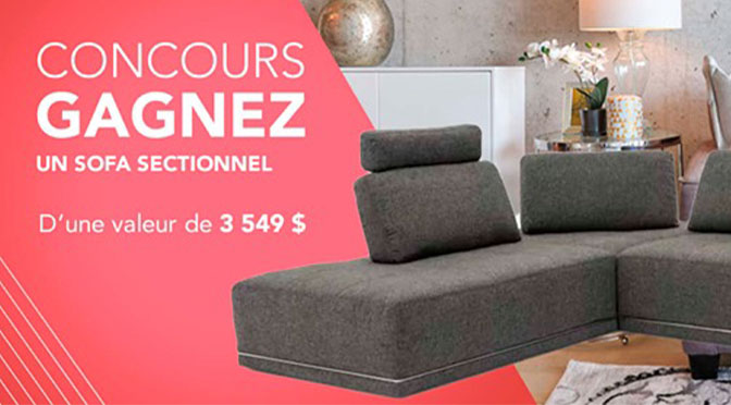Concours sofa sectionnel germain Lariviere