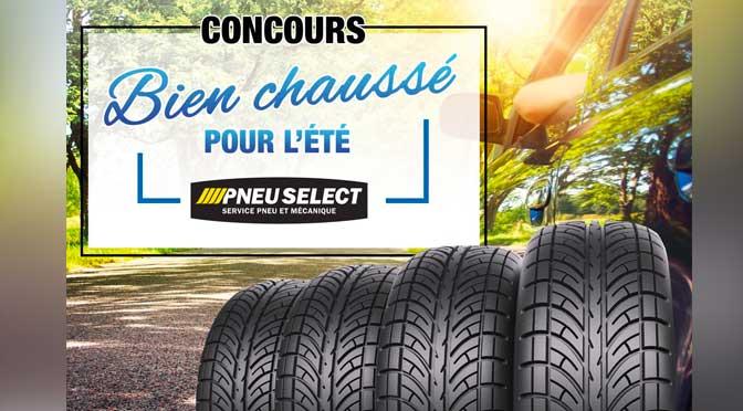 Concours Bien Chassé pour l'été pneu select