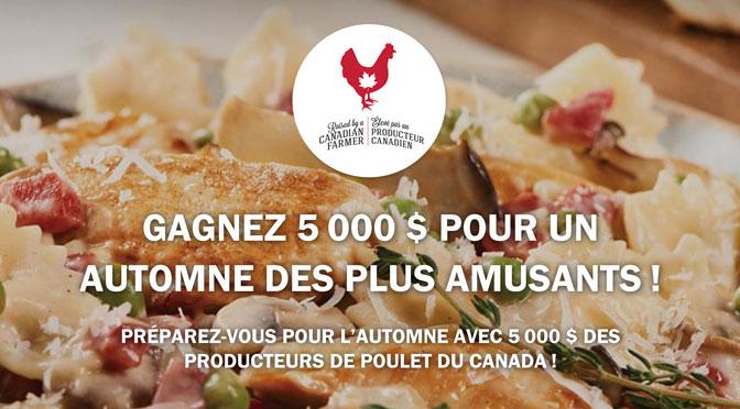 Concours Poulet.ca - Gagnez un prix de 5000$ en argent!