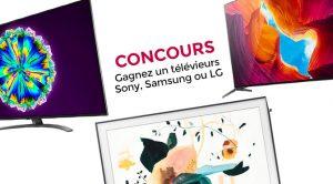 concours TV 4k Samsung Sony LG avec Best Buy