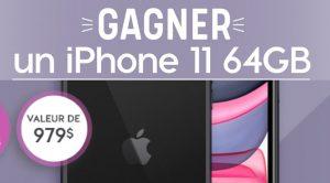 Concours pour gagner un iPhone 11 64 GB
