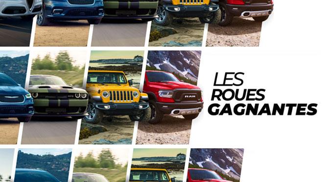 Concours Roue Gagnantes - Gagnez le véhicule Chrysler, Dodge, Jeep de votre choix