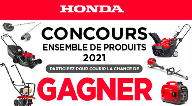 Concours Produits Honda 2021