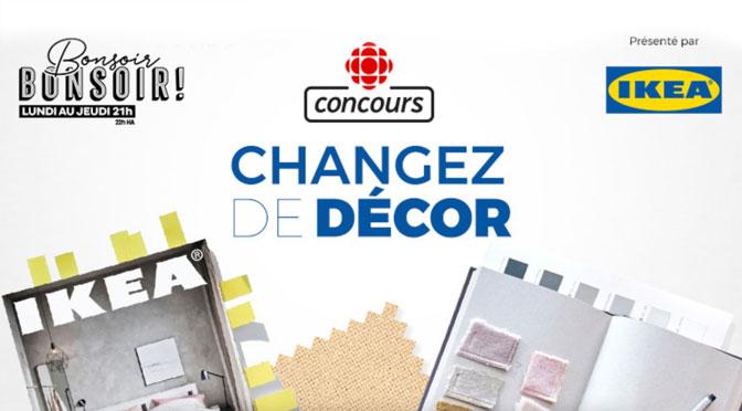 concours Changez de Décor Radio-Canada