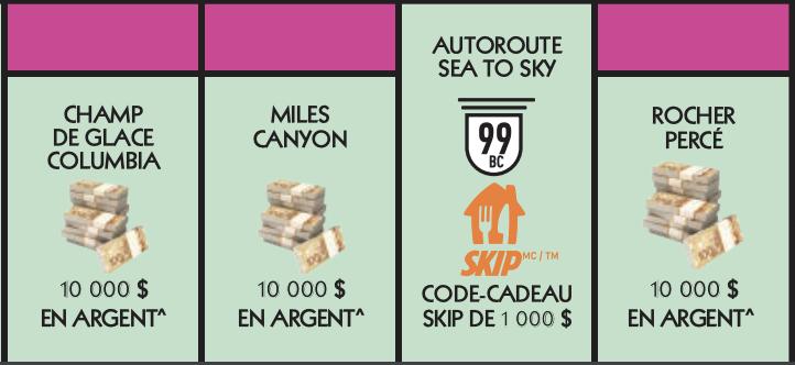 Vignette rose Monopoly 2020