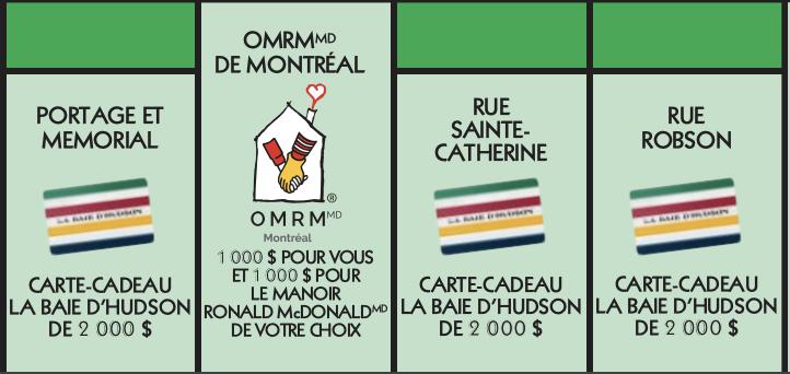 Vignette verte Monopoly 2020