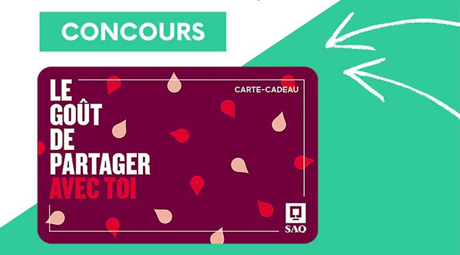Concours SAQ carte-cadeau Erco Électrique