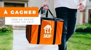 Carte-cadeau de 100$ de livraison Skip à gagner avec Polysleep
