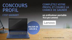 Concours Ameublement Tanguay Laptop Lenovo
