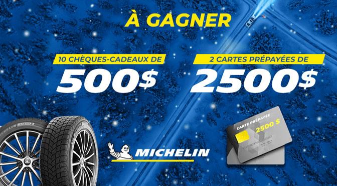 Concours Michelin à TVA et OPneu Robert Bernard Pneu Hiver