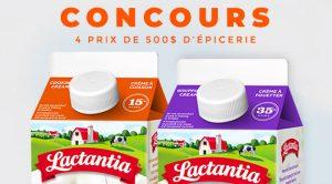 Concours Lactantita carte-cadeau 500$ d'épicerie