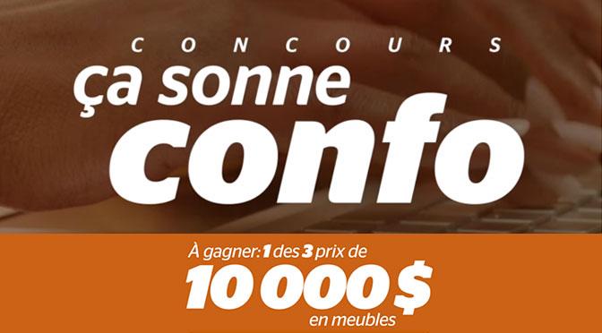 Concours Brault et Martineau 60 ans Ça sonne confo