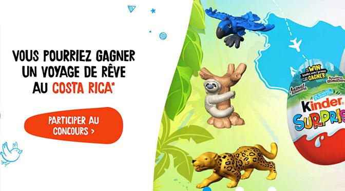 Concours Kinder Suprise Avantures Animalières
