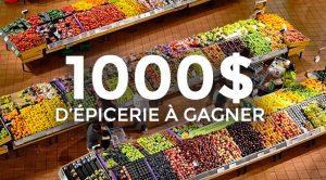 concours 1000$ d'épiceire avec les oeufs du Québec