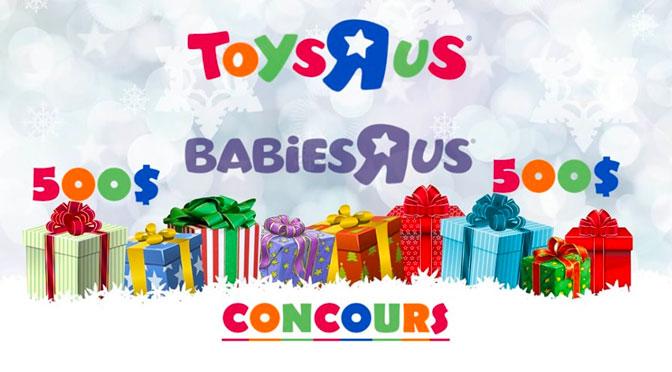 """Concours Carte-cadeau Toys""""R""""Us 500$"""