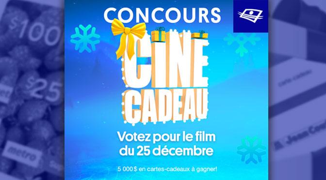 Concours Ciné Cadeau à Télé-Quebec 2020