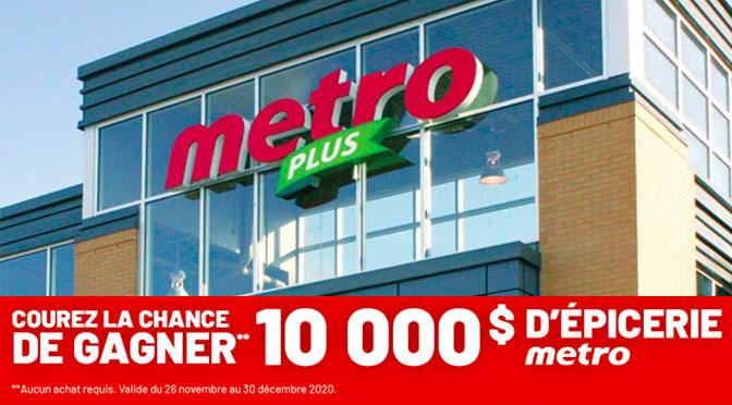 concours 10000$ d'épicerie Metro
