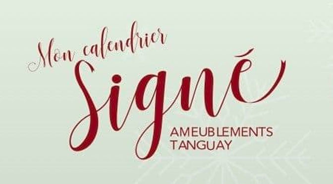 Cncours Calendrier Signé Ameublement Tanguay