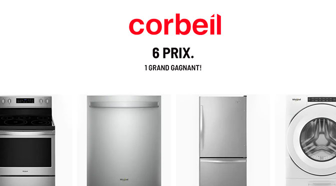 Gros concours Corbeil 6 électros Whirlpool