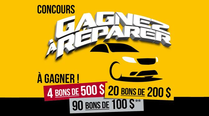 Concours Gagnez à réparer autoplace 2021
