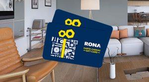 Concours Carte-cadeau RONA 2021