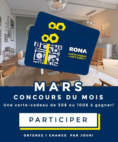 Concours du mois Mars 2021
