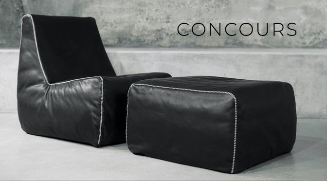 Concours Montauk Sofa fauteuil Feather et ottoman