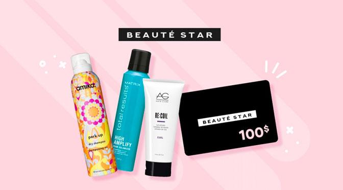 Gagnez une carte-cadeau de 100 $ pour la boutique en ligne Beauty Star