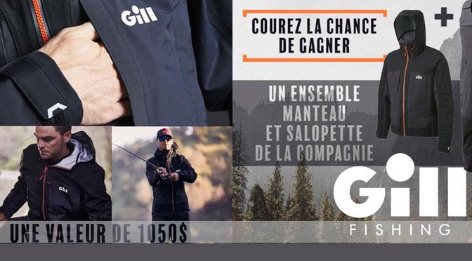Concours Gill Fishing & Aventure Chasse Pêche ensemble salopette et manteau GILL 1050$