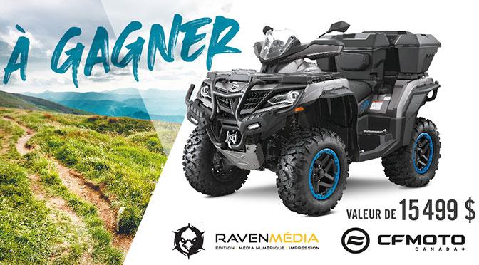 Concours un Quad CFORCE 1000 OVERLAND 2021 Raven Media CF Moto