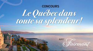 Concours séjour gastronomique hôtels Fairmont