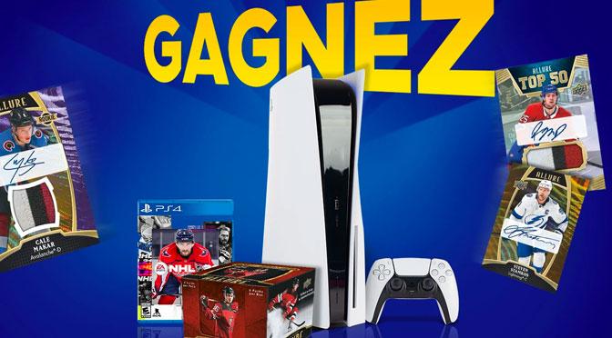 Concours Stakk.ca et GamingShop.ca PS5 Jeu NHL 1 boîte Hockey Upper Deck