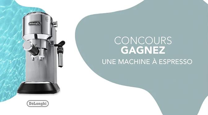Concours Germain Larivière Machine à Espresso DeLonghi