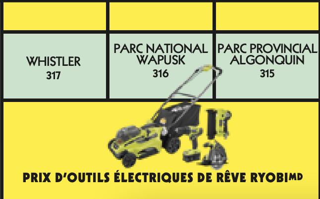 Vignette jaune Monopoly 2021