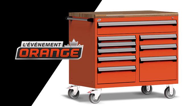 Concours Kubota événement orange, coffre à outils