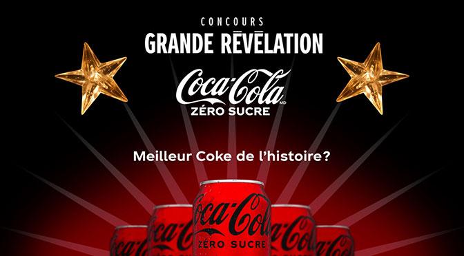 La Grande Révélation Coca-Cola zéro sucre Emission Chanteurs masqués